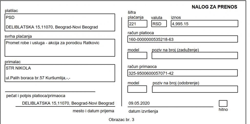 Namirnice za porodicu Ratković 3