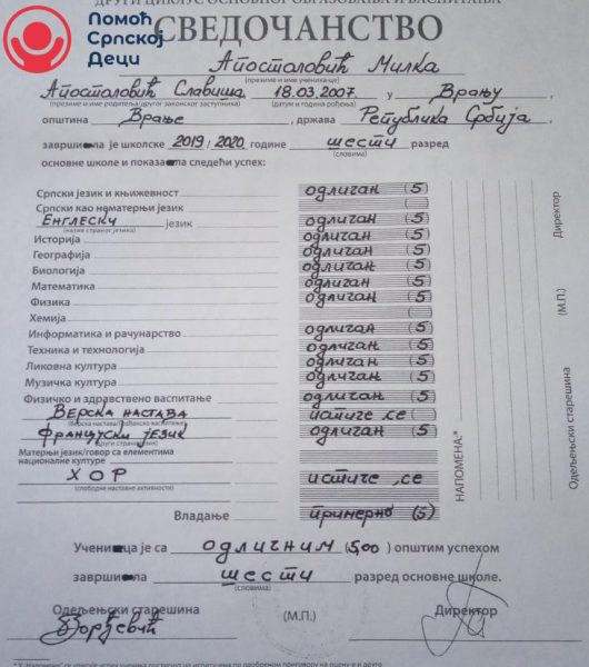 Help Milka and Mladen Apostolović attend school 2