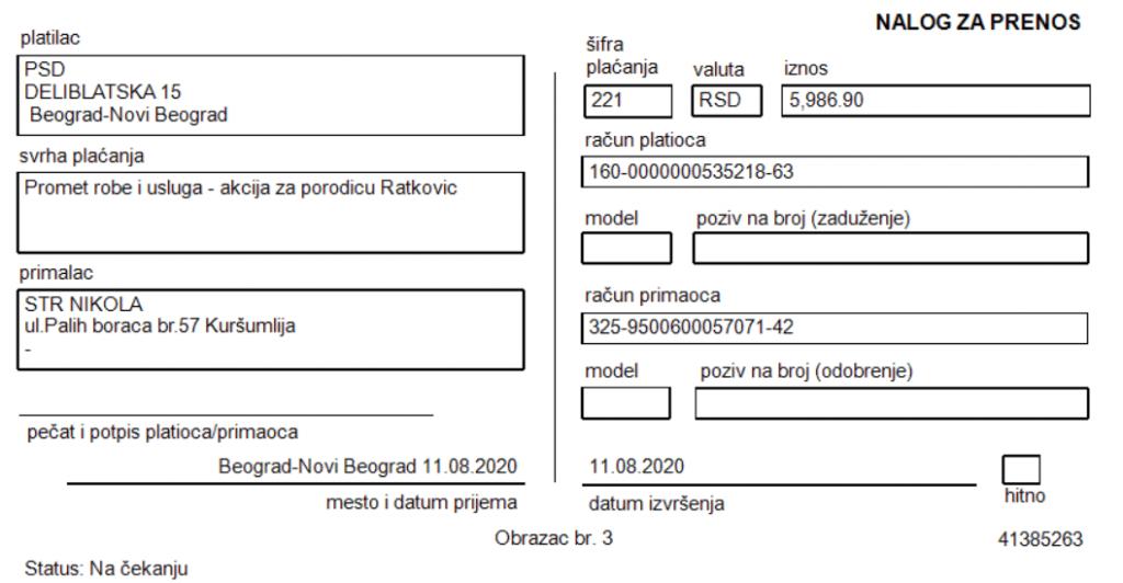 Namirnice za porodicu Ratković 5