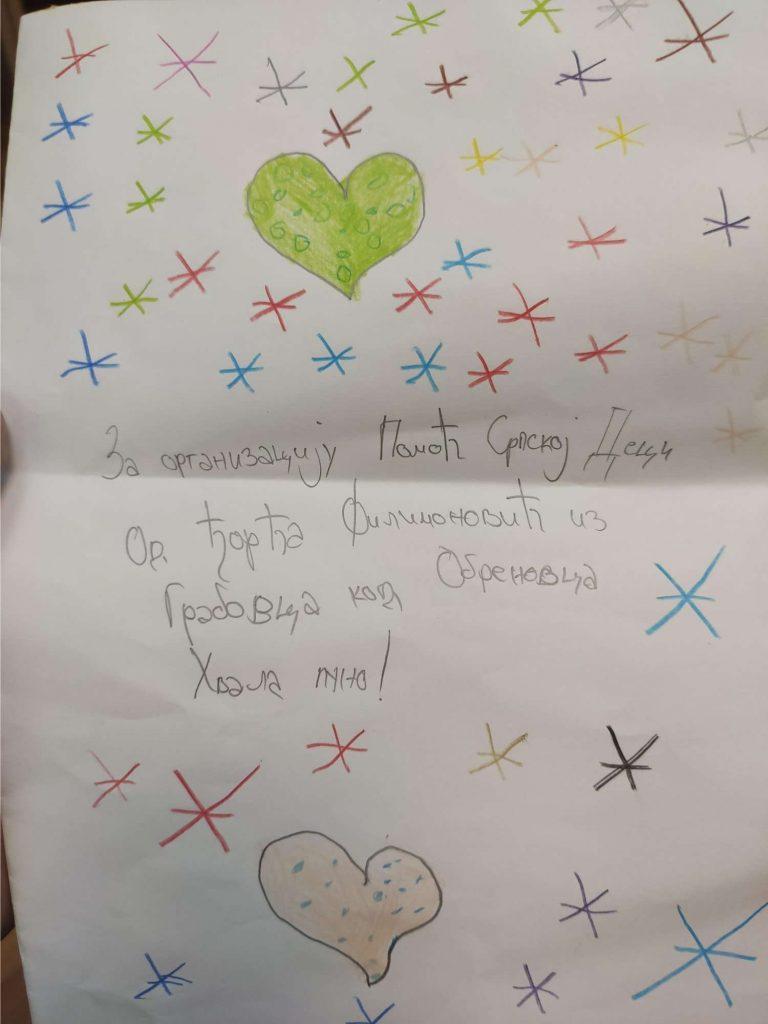 Donacija školskog pribora za porodicu Filimonović 2