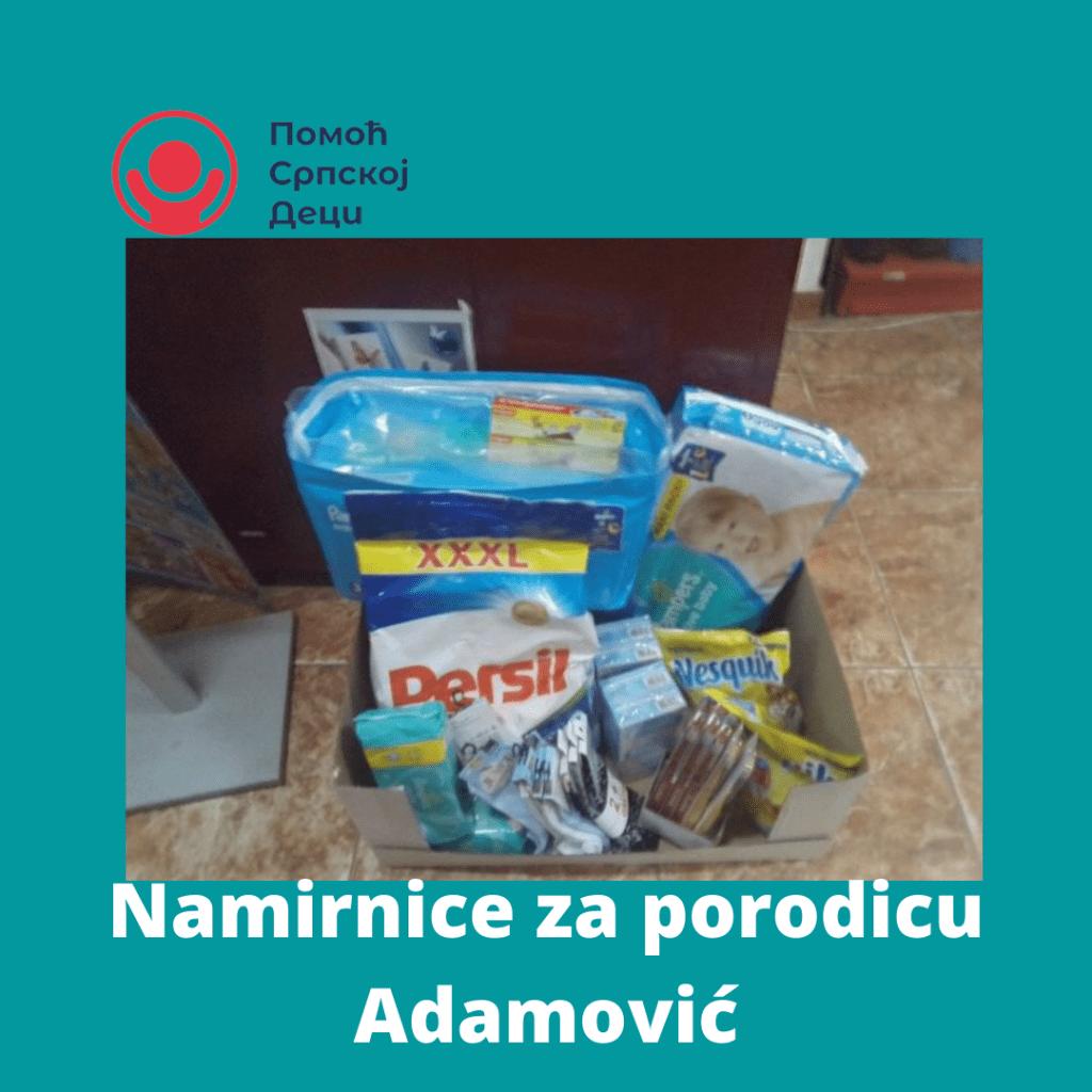 Namirnice za porodicu Adamović 1