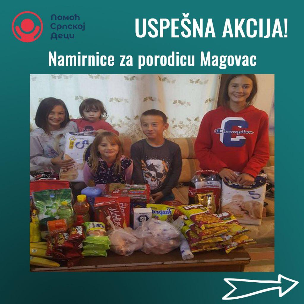 Groceries for family Magovac 1