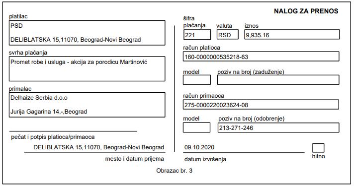Namirnice za porodicu Martinović 4