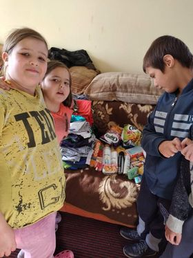 Groceries and clothes donation for the Ratković family 2