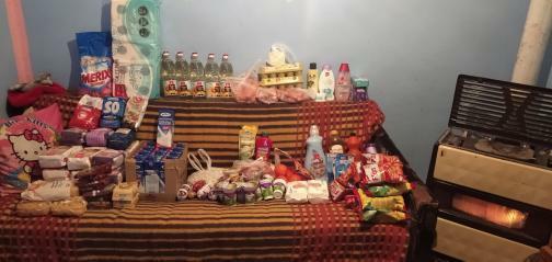 Donacija namirnica za porodicu Slavković 1