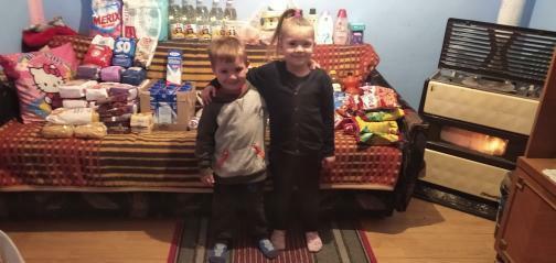 Donacija namirnica za porodicu Slavković 2